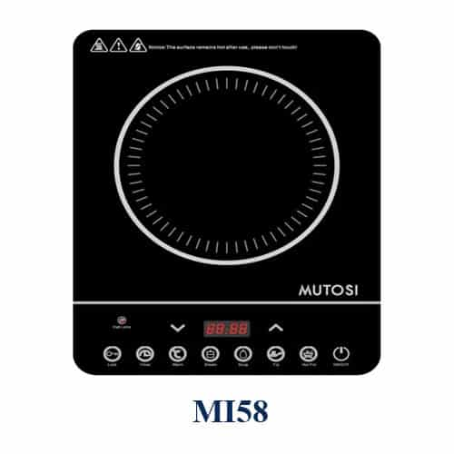 Bếp từ đơn Mutosi MI58 - Mặt kính chịu nhiệt, chống xước