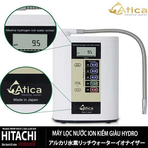 Máy lọc nước ion kiềm Atica MHW-H5(V) - Giàu hydrogen